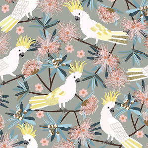 1/2 Metre JOCELYN PROUST Cockatoo Bird Animal Sewing Cotton Fabric