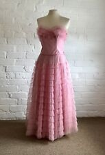 1950's True Vintage American Prom Dress Evening Gown 1940's