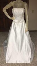 MOONLIGHT Wedding Dress Size 10 White Beaded Strapless