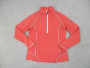 Peter Millar Shirt Women Medium Pink Gray Wicking Lightweight Long Sleeve Ladies