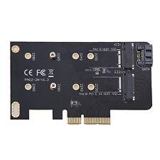 2 slot M CHIAVE m.2 NGFF SSD a PCI-E x4 Adattatore B CHIAVE m.2 NGFF SSD a SATA ADA.