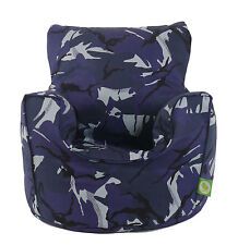 Cotton Urban Camo Camouflage Bean Bag Arm Chair With Beans Toddler From BeanLazy