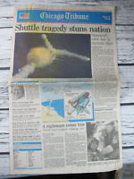 Challenger Space Shuttle Chicago Tribune News January 29 1986 Newspaper Section