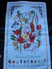 Australian souvenir Flowers tea towel NEW great  gift idea 100% cotton