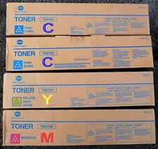 KONICA MINOLTA TN210C x 2  + TN210M + TN210Y = 4 PRISTINE TONERS GENUINE SEALED