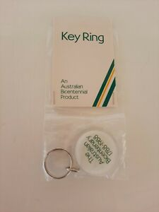 Australian Bicentenary 1988 Souvenir Keyring, Unused in Original Packet, Vintage