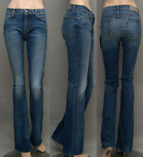 $198 NWT WOMEN'S 7 SEVEN FOR ALL MANKIND JEANS THE SKINNY BOOT DRD2 BLUE SZ 28