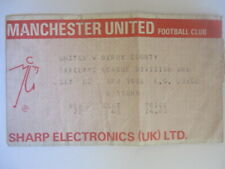 1988 ticket billet FOOTBALL BARCLAYS LEAGUE DIVISION 1 MANCHESTER UNITED DERBY C