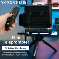 YS-ZX5 PLUS 5'' Video Shooting Phone Camera Teleprompter for Vlog Live Broadcast