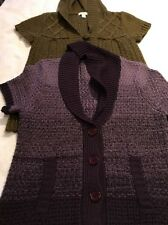 Dressbarn Button Up Cardigans, Lot Of Two, Size M