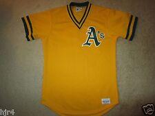 Oakland A's Athletics 1988 Majestic #72 Batting Yellow MLB Jersey M Medium