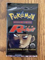 Pokemon First (1st) Edition Team Rocket Booster Pack WOTC Sealed Unweighed!!
