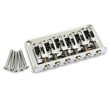 Gotoh Chrome 12-string Adjustable Saddle Hardtail Guitar Bridge SB-5108-010