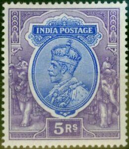 Indischem 1913 5R Ultramarinblau & Violett SG188 V.F & Frisch MTD Postfrisch