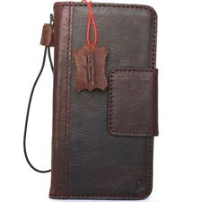 genuine vintage leather Case for samsung galaxy note 8 book wallet magnet cover