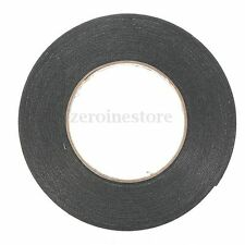 Black Super Strong Permanent Double Sided Self Adhesive Foam Car Trim Tape 10M