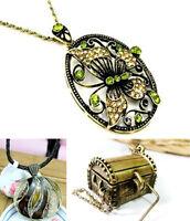 Style vintage découpe papillon coffre au trésor collier multiple choix