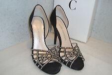 Caparros Womens NWB Caterina Black Satin Heels Shoes 6 MED NEW