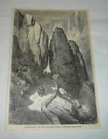 1879 magazine engraving ~ PASS OF THE DESPENAPERROS Sierra Moreno, Spain