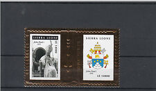 Sierra Leone 2010 MNH Popes 20th Century Gold Stamp 2v S/S Part II John Paul I