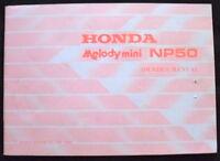 HONDA MELODY MINI NP50 MOTORCYCLE OWNERS MANUAL 1982 #32GF0600