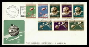 DR WHO 1964 PARAGUAY FDC SPACE TOKYO OLYMPICS CACHET COMBO IMPERF  g21868