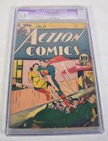 Action Comics 29 DC 1940 CGC 5.0 Superman 1st Lois Lane Cover