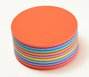 Acrylic Perspex Circle Disk Round Shapes Pastel Colour Circles 10mm to 100mm