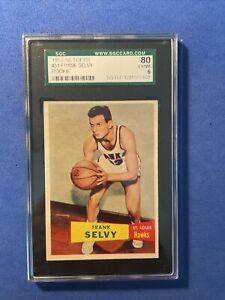 RG: 1957 Topps Basketball Card #51 Frank Selvy Rookie St. Louis Hawks - SGC 6 EX