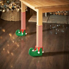 4 Pcs Elf Foot Chair or Table Leg Covers Xmas Party Christmas Table Decorations