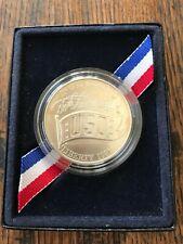 1991 USO US Service Organization 50th Anniversary Silver Dollar Denver Mint COA