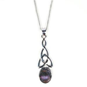 Silver / Blue John Celtic Knot Pendant