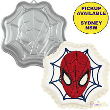 SPIDERMAN PARTY SUPPLIES WILTON SHAPED BIRTHDAY CAKE TIN BAKING PAN SUPERHERO