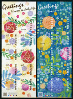 Japan 2018 MNH Greetings Flowers in Daily Life 2x 10v S/A M/S Nature Stamps