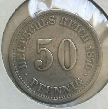 1876 F Germany 50 Pfennig