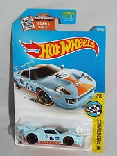Hot Wheels 2016 HW Speed Graphics 7/10 FORD GT Light Blue Gulf w/ PR5s