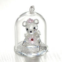 Clear Crystal Cute Bear Figurine Hanging Glass Decor Wedding Gifts Ornaments