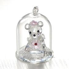 Clear Crystal Cute Bear Figurine Hanging Glass Decor Wedding Gifts Ornaments
