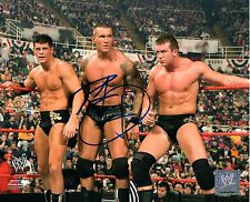 RANDY ORTON SIGNED WWE WRESTLING PHOTO Evolution Cody Rhodes Ted Dibiase Jr