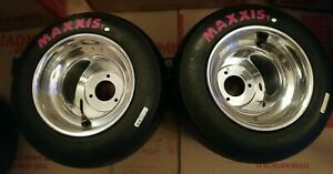2-Go Kart  Polished  *NEW* Wheels & used Maxxis Tires American bolt pattern