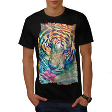 Tiger Psychedelic Animal Men T-shirt S-5XL NEW | Wellcoda