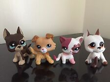 4x Littlest Pet Shop LPS Great Dane #817-2 #750 Collie #2452 Cat #2291 Cute Set