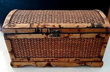 Oriental Bamboo Cedar Chest Box w/latch W 17 H 9 1/2 D 10
