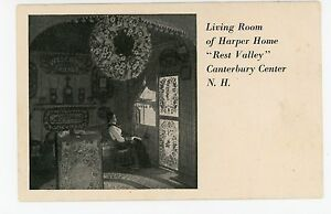 """""""Rest Valley"""" Living Room CANTERBURY CENTER NH Merrimack Co—Hotel Interior~1930s"""