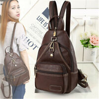 Women Leather Vintage Outdoor Portable Chest Crossbody Shoulder Bag Backpack