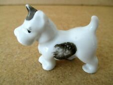Scotty Scottish Terrier Figurine Porcelain Miniature Doll House Dog Puppy Vtg