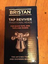 Bristan Basin Hot & Cold Taps -chrome Traditional Cross-head