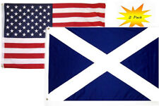 3x5 3'x5' Wholesale Set (2 Pack) Usa American & Scotland Cross Country Flag