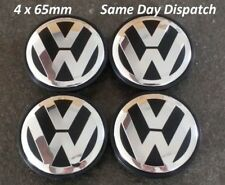 VW Alloy Wheel Centre Caps 65mm / Black / Set of 4/ MK5, MK6, Golf, Polo, Passat