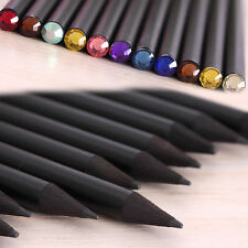 Lot 6 Pcs Black Wooden Pencils Sketching & Drawing Art Pencil Color Random